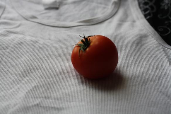 Lone tomato heart - closest