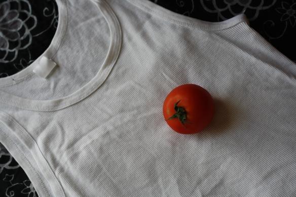 Lone tomato heart - closer