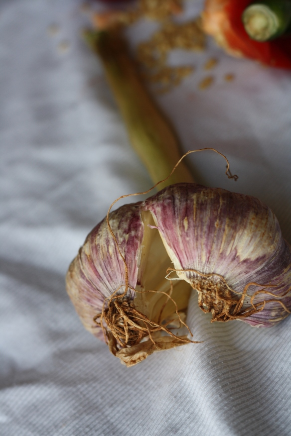 Broken garlic