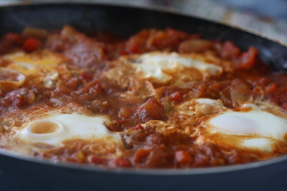 Hot, steamy shakshouka