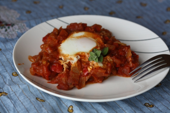 A heaping plate of shakshouka