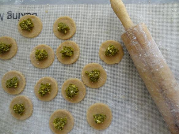 Pretty pistachio circles