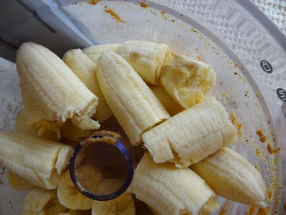 Mash or process bananas