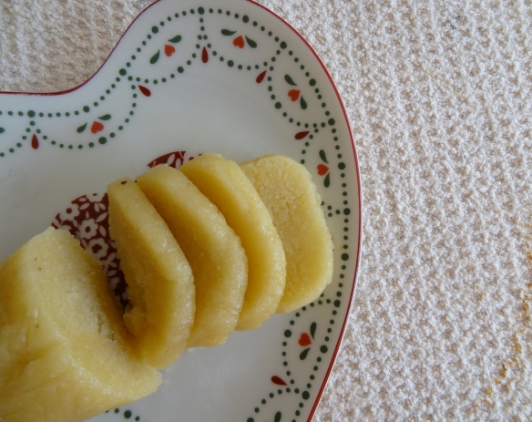 Sliced Homemade Marzipan