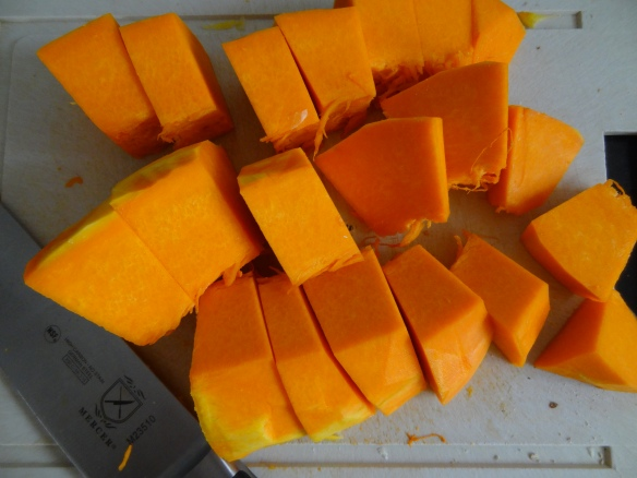 Chopped Pumpkin for Soup