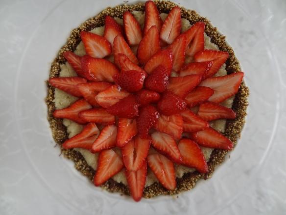 Arrange strawberries on top