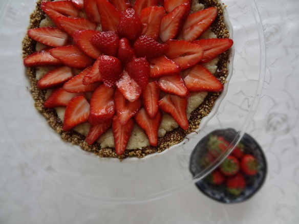Strawberry-topped gluten-free passover tart