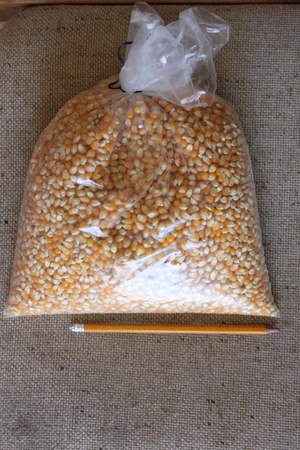 Huge sack of popcorn