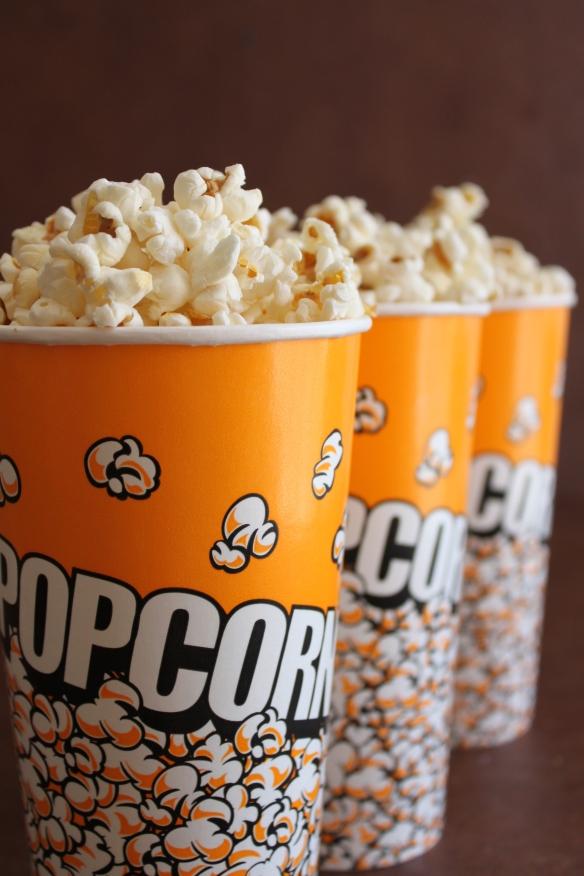 Buckets of popcorn!