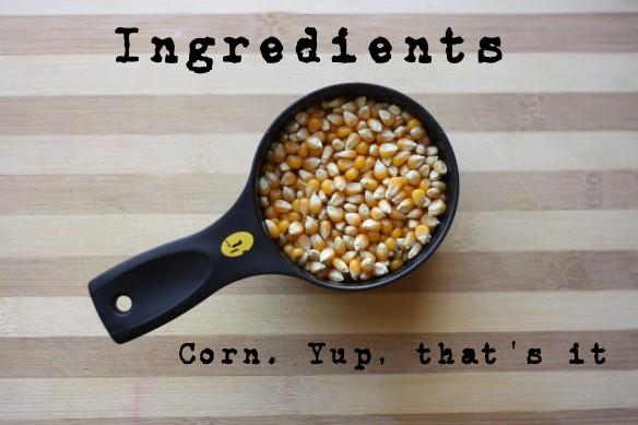 Ingredients - popcorn