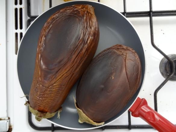 Eggplants, rusting