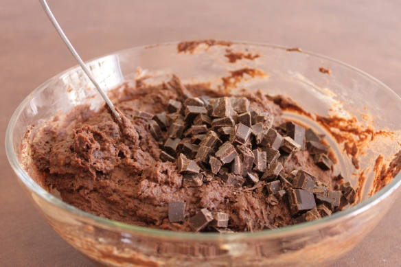 Stir the chocolate into the batter