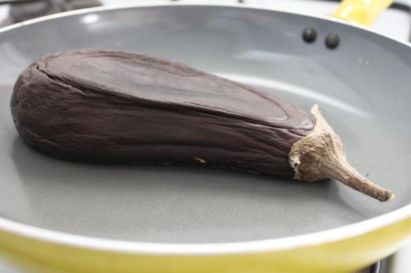 Deflated eggplant
