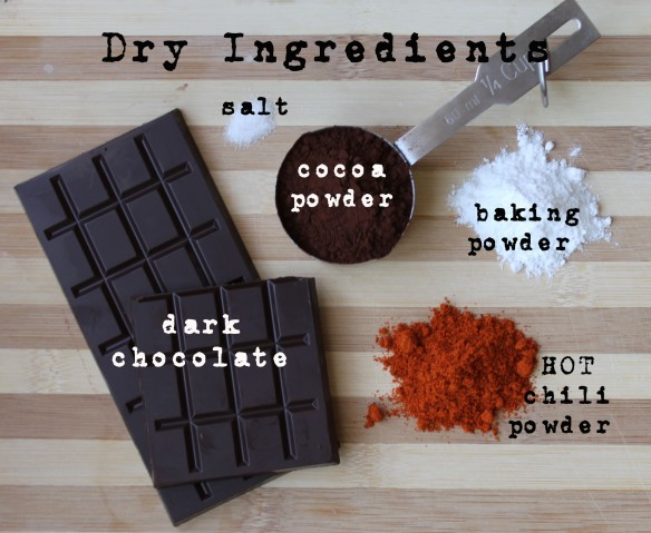 Dry Ingredients - spicy chocolate brownies