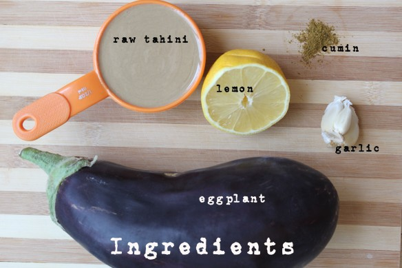 Grilled Eggplant with Tahini - Ingredients