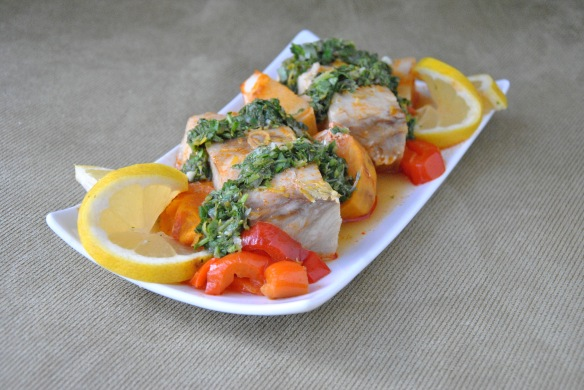Moroccan-Style Fish with Cilantro-Lime ChimiChurri | The Graceful Kitchen