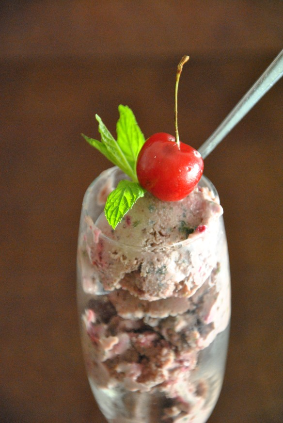Cherry-Mint Ice-Cream | The Graceful Kitchen