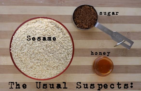 Ingredients: Easiest Honey-Roasted Sesame Cookies by The Graceful Kitchen