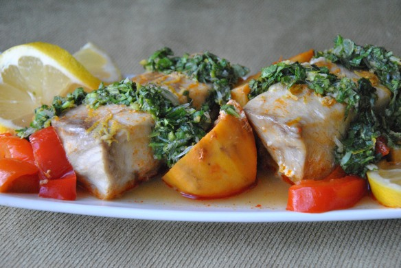 Moroccan-Style Fish with Cilantro-Mint Chimichurri | The Graceful Kitchen