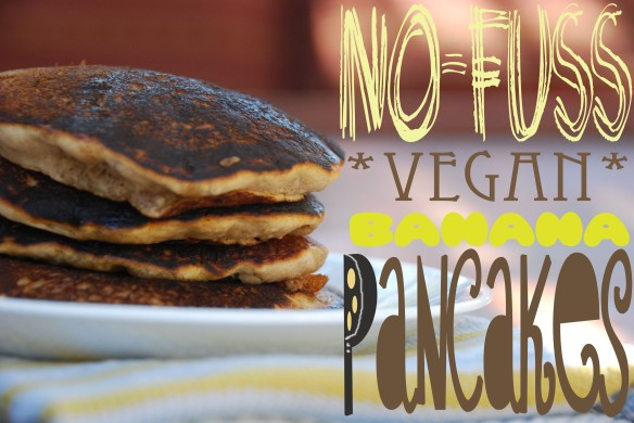 No-Fuss Vegan Banana Pancakes With Caramelized Fruit Sauce - The Graceful Kitchen