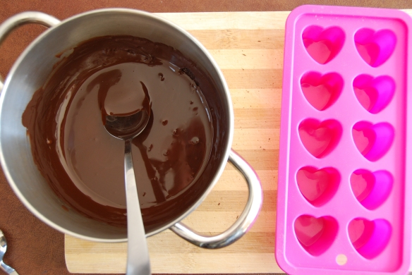 Minty-Marzipan Filled Chocolate Hearts   The Graceful Kitchen
